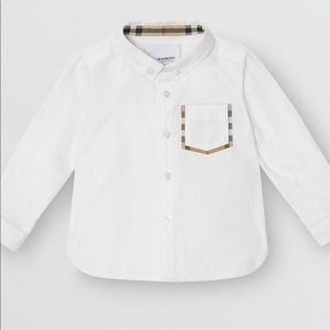 Burberry baby white button down